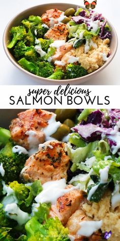 carbifunow Mediterranean Salmon Bowl - Beauty Bites -  Mediterranean Salmon Bowl – a healthy salmon recipe that is easy, full of flavor, super satisfyin - #beauty #bites #Bowl #CookingTips #EasyRecipes #HealthyRecipes #mediterranean #salmon<br> New Recipes For Dinner, Clean Eating Recipes For Dinner, Clean Eating Snacks, Healthy Eating, Dinner Ideas, Eating Raw, Dinner Options, Healthy Food Recipes, Easy Healthy Dinners