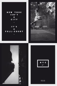 Really like the simplicity of Hort's posters for Nike , timeless photography and good typography work well.