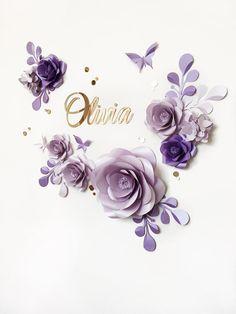 Papier-Kit für Ihre parteidekor? Ja, bitte. Wir sind begeistert von dieser weich-farbenen Lavendel und Blumen lila Papier Blumenschmuck, dass funktioniert sehr gut als ein Hintergrund-Tranche candy bar Dekor, Kinderzimmer hängen. Wir sind sicher, es bringt eine romantische und elegante