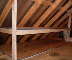 Creating storage in attic - add a shelf.