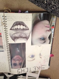 A page from my sketch book on facial features