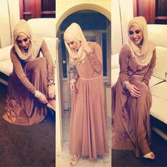 That hijab style! Muslim Women Fashion, Arab Fashion, Islamic Fashion, Modest Fashion, Hijab Prom Dress, Hijab Outfit, Simple Hijab, Hijab Collection, Muslim Beauty