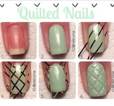 Quilted nails ❤