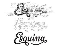 Lettering, custom lettering. Sketch to finished art. Typography by Claire Coullon