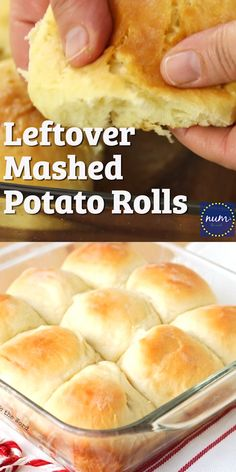 Mashed Potato Rolls are my family's favorite. Great for using up leftovers, but so good you'll be making mashed potatoes just so you can make these rolls! Light, fluffy and perfect every time! in crockpot meals to make tortillas amish bread bread recipes Homemade Dinner Rolls, Homemade Breads, Recipe For Homemade Biscuits, Homemade Bread Without Yeast, Soft Bread Recipe, Homemade Cake Mixes, Leftover Mashed Potatoes, Leftovers Recipes, Leftover Bread Recipes