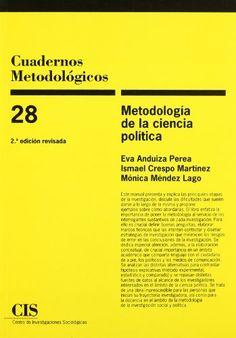 Metodología de la ciencia política / Eva Anduiza Perea, Ismael Crespo, Mónica Méndez Lago