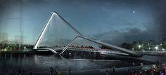 Infinity Loop Bridge. 10 Design + Buro Happold to be built in the Chinese town Zhuhai Bridge