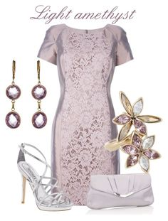 """LIGHT AMETHYST"" by dgia ❤ liked on Polyvore featuring Valentino, Swarovski, Badgley Mischka, Accessorize and ZoÃ« B. Ltd"