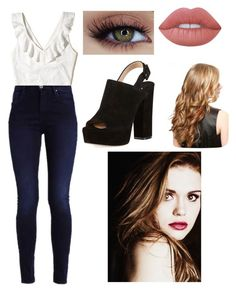 """Wattpad Story Outfit #1"" by zeldawarrior on Polyvore featuring Paul Andrew, Lime Crime and Hollister Co."