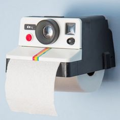 Suportes para papel higiênico criativos.