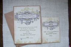 Vintage style invitiation - ebay