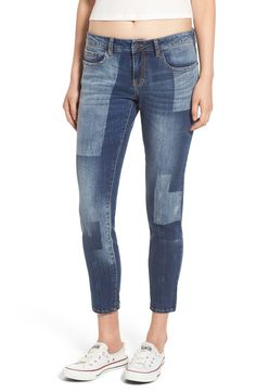 Free shipping and returns on BP. Crop Skinny Jeans (Spring Blue) at Nordstrom.com. Faded patches highlight cropped skinny jeans cut from soft stretch denim.