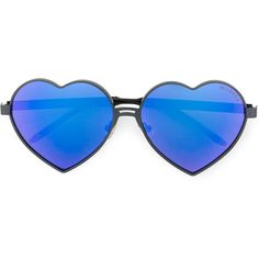 Wildfox heart shaped sunglasses (€250) ❤ liked on Polyvore featuring accessories, eyewear, sunglasses, blue, heart shaped sunglasses, blue sunglasses, wildfox glasses, heart shaped glasses and blue glasses