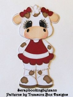 Scrapbookingbyleann Designs: New Pig & Cow Paper Piecings