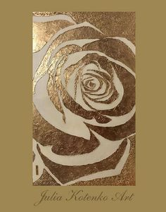 Abstract Rose Oil Painting Gold Leaf Painting Large On Canvas Wall art. THIS PAINTING IS SOLD. Your painting will be create very similar in same style, color and size.After you ordered I will start to create your painting directly.I will finish it in only 4-6 DAYS . DETAILS * Name: