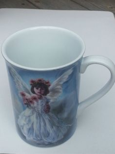 Collectable Mugs Decorative Angel Mug Sandra Kuck Imagination Little Girl Angel