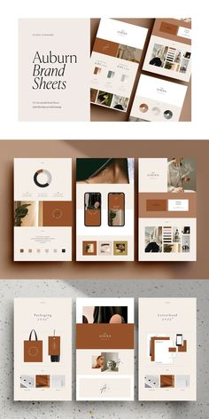 The Auburn Brand Sheets are a series of 24 individually designed branding template sheets designed in both Adobe Photoshop and Adobe Indesign Layout Design, Mail Design, Interaktives Design, Logo Design, Brand Identity Design, Brand Design, Brand Identity Pack, Identity Branding, Web Layout