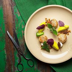 Scallops with Couscous Cauliflower