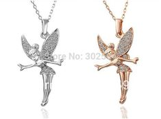 Cheap pendant crystal, Buy Quality colorful necklace directly from China crystal pendant Suppliers: Fairy Angel Fashion Jewelry wedding women lady Gold color Necklace Nickel Free Pendant Crystal SWA Elements Angel Necklace, Wing Necklace, Pendant Necklace, Gold Plated Necklace, Crystal Pendant, Necklace Designs, 18k Gold, Jewelry Accessories, Handmade Jewelry