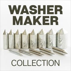 Pair the Washer Maker Collection with your disc cutter and create perfectly centered, custom washer-shaped components for your jewelry designs.