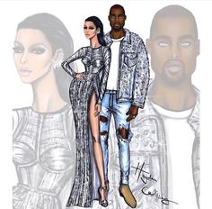 Kim and Kanye at Met Gala 2016 by Hayden williams