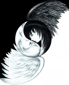 Yin And Yang Angels..beautiful <3<3<3<3