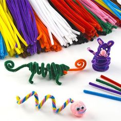 Pack Économique de Fils Chenille colorés – Vendu par lot de 120 – Idéal pour créer toutes sortes d'animaux: Tweet Fils chenille coloré…