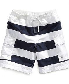 Epic Threads Kids Swim, Little Boys Nautical Stripe Swim Trunks - Kids Boys 2-7 - Macy's
