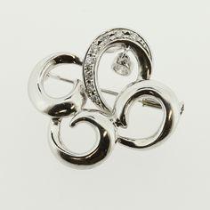 【買取】Pt900 K14WG ダイヤモンド ブローチ/専門鑑定士があなたの商品を高額査定!全国どこでも自宅にいながら申込から買取まで完了します♪