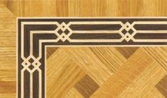 Wood Borders: BA049. Check other inlays, wood and stone medallions, borders and parquet from Czar Floors.