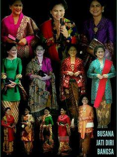 Batik Kebaya, Batik Dress, Kebaya Brokat, Model Kebaya, Traditional Outfits, Ikat, Sari, Clothes For Women, Womens Fashion