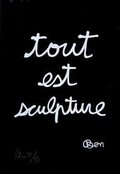 BEN VAUTIER. #ben_vautier http://www.widewalls.ch/artist/ben/ #ben_vautier #contemporary_art