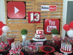 13th Birthday Parties, 12th Birthday, Birthday Party Themes, Boy Birthday, Party Co, Party Time, Bob Marley Birthday, Youtube Birthday, Youtube Party