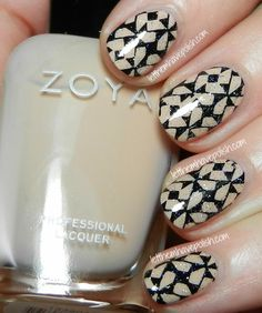 Zoya Chantal- Stamped Nail Art Look