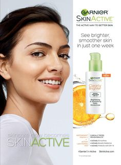 Garnier SkinActive Clearly Brighter SkinCare Advertising