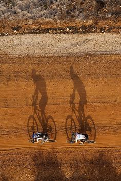 Small bike, big shadow.