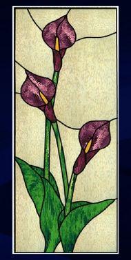 triple calla lilies panel]
