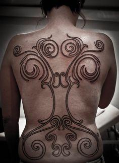 La tene Yggdrasil, part II by Meatshop-Tattoo.deviantart.com