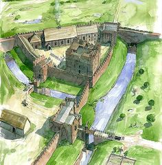 Reconstruction of Carlisle Castle as it may have appeared in about 1400
