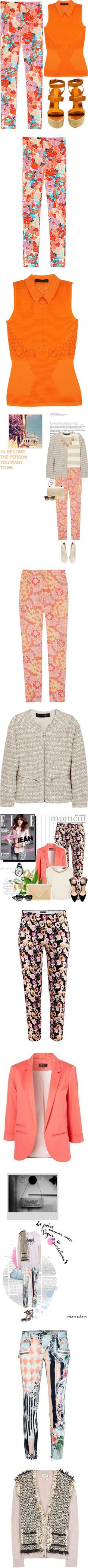"""""""Bloomin' Pants: Trousers With Flowers"""" by polyvore-editorial on Polyvore"""