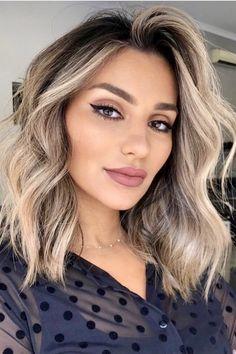 Medium Hair Cuts, Long Hair Cuts, Medium Hair Styles, Short Hair Styles, Straight Hair, Medium Blond Hair, Wavey Hair Styles, Haircut For Thick Hair, Lob Haircut Thick Hair