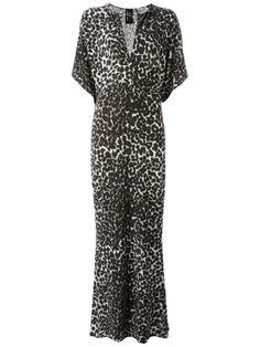NORMA KAMALI Cheetah Print Maxi Dress. #normakamali #cloth #dress