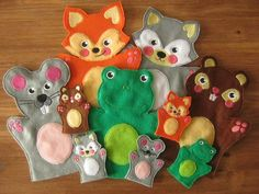 This is a cute collection of 5 animal hand and finger puppets. The collection is made up of Foxy, Froggy, Mousey, Raccoon & Squirrel.  The puppets are in 4 hand puppet sizes and 1 finger puppet size. These are extremely easy to make in a single hooping and are perfect for beginners. The How