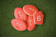 AFL / Footy cookies for Ted's birthday by @burntbutter. So cute!