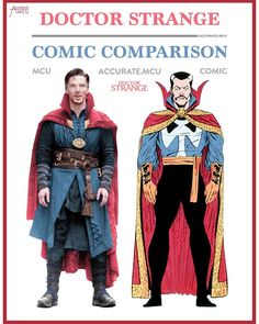 "29.4k Likes, 150 Comments - • Accurate.MCU • mcu fanpage (@accurate.mcu) on Instagram: ""• DOCTOR STRANGE - COMIC COMPARISON 3.0 • At first I wasn't sure if they could pull off a comic…"""