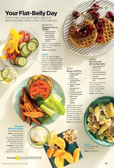 Flat Belly Diet - waffle, burger and spring pasta | Women's Health Magazine