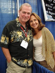 "From ""Buck Rogers""; actors Gil Gerard (""Buck"") and Erin Gray (""Wilma"")"