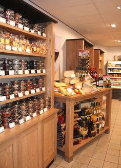 Inrichting kaas en noten winkel