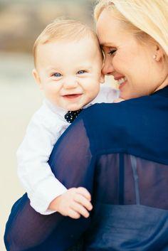 Family Session, Photo Shoot, Baby & kids photos, Beach, Honey Honey Photography, Tres Chic Affairs, baby boy, bowtie, mom and son