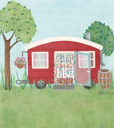 A cute tiny house illustration, someday ...